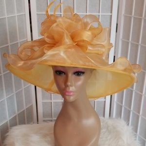 Beautiful satin yellow gold hat